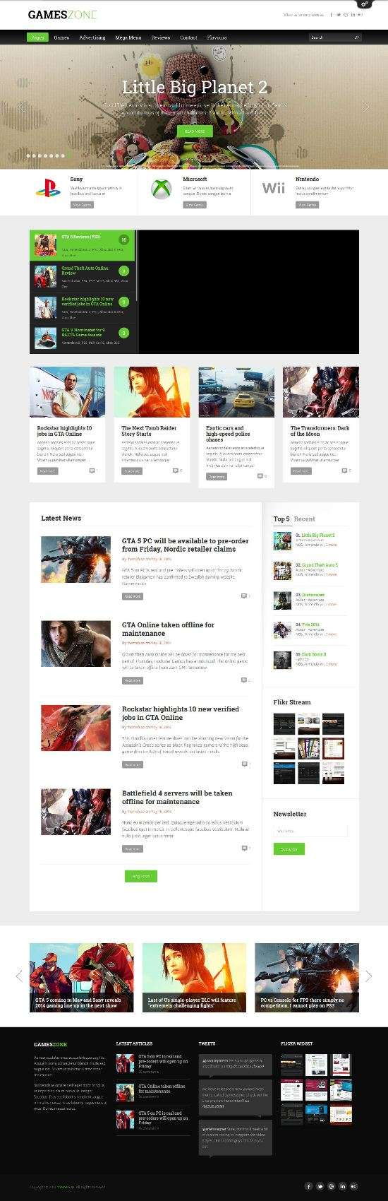 gameszone themefuse avjthemescom 01 - Gameszone WordPress Theme