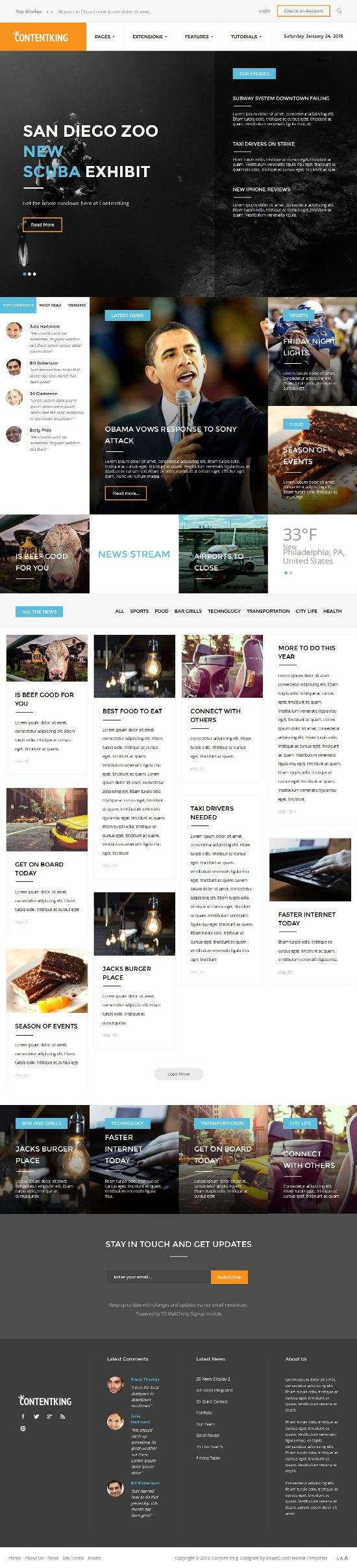 content king shape5 joomla - Content King Joomla Template
