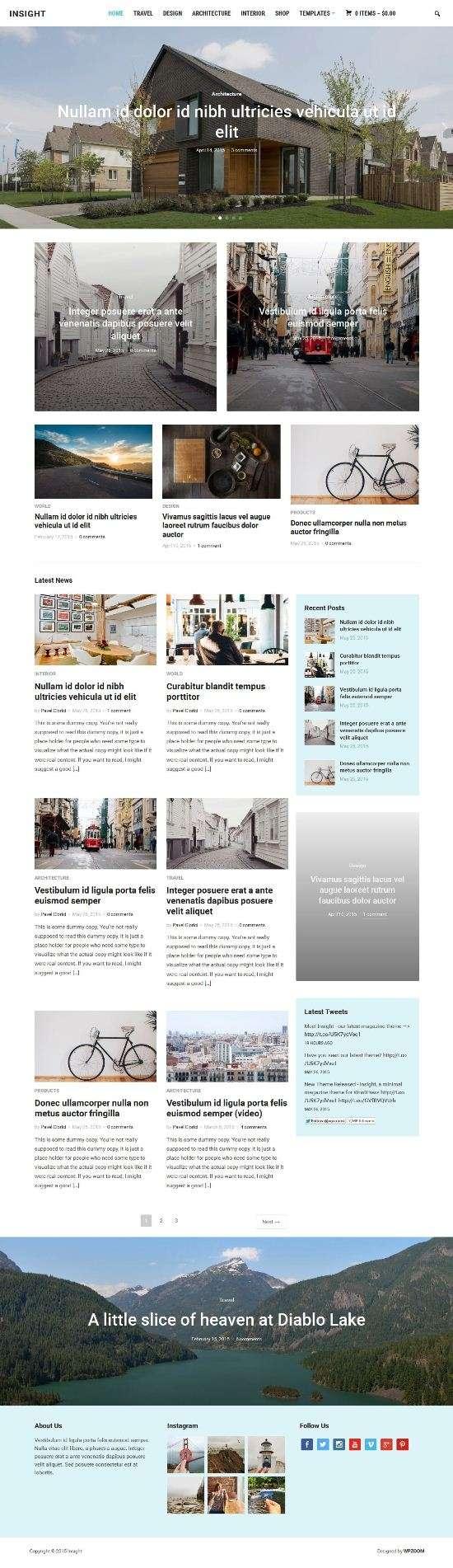 insight wpzoom magazine wordpress theme 01 - Insight WordPress Theme