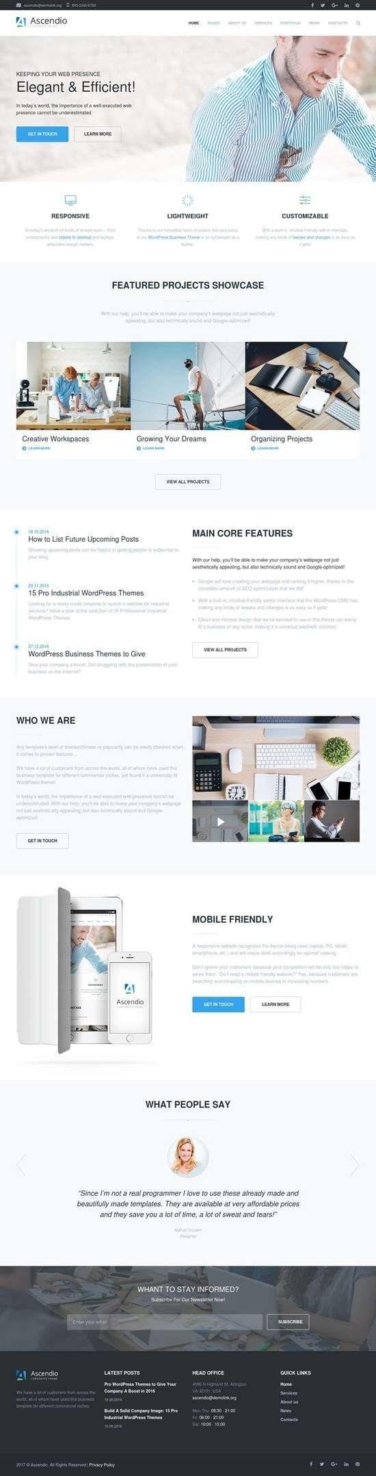 ascendio business wordpress theme 01 550x2155 - Ascendio WordPress Theme