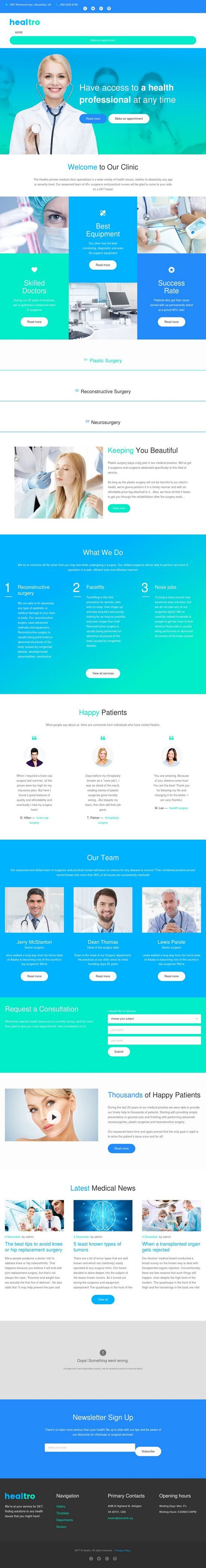 healtro medical wordpress theme 01 550x4170 - Healtro WordPress Theme