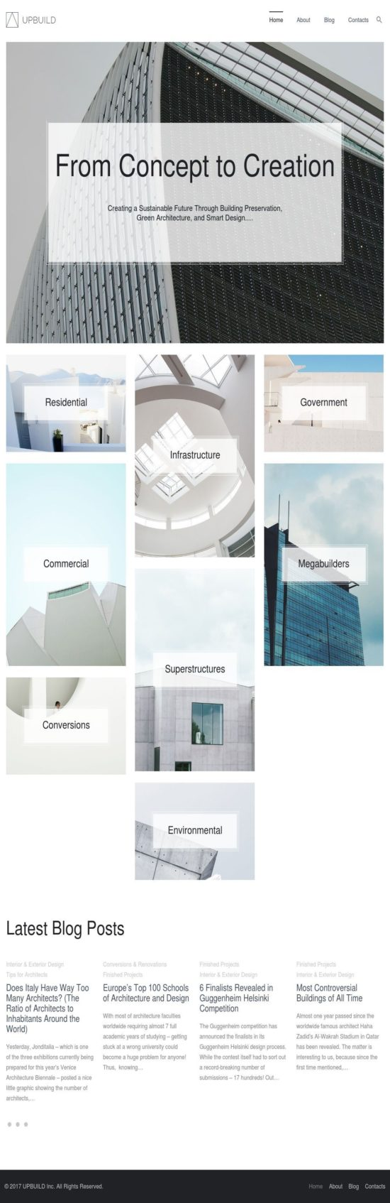 upbuild achitecture wordpress theme 01 550x1694 - Upbuild WordPress Theme