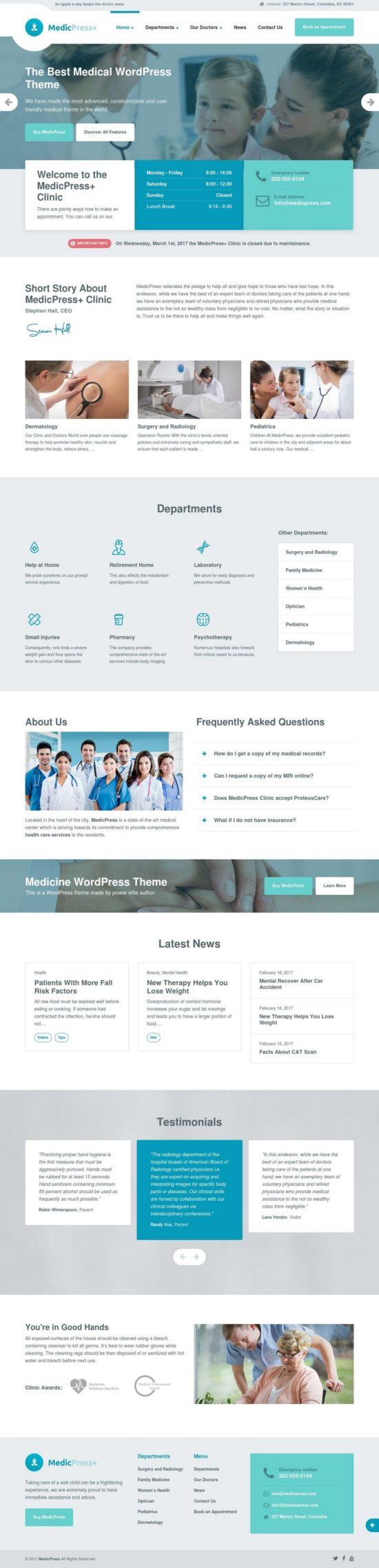 medicpress proteusthemes wordpress theme 01 550x2276 - MedicPress WordPress Theme