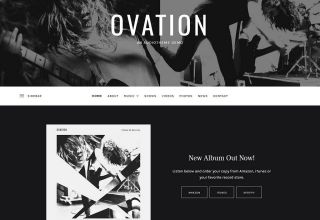 ovation audiotheme wordpress theme 01 - Ovation WordPress Theme