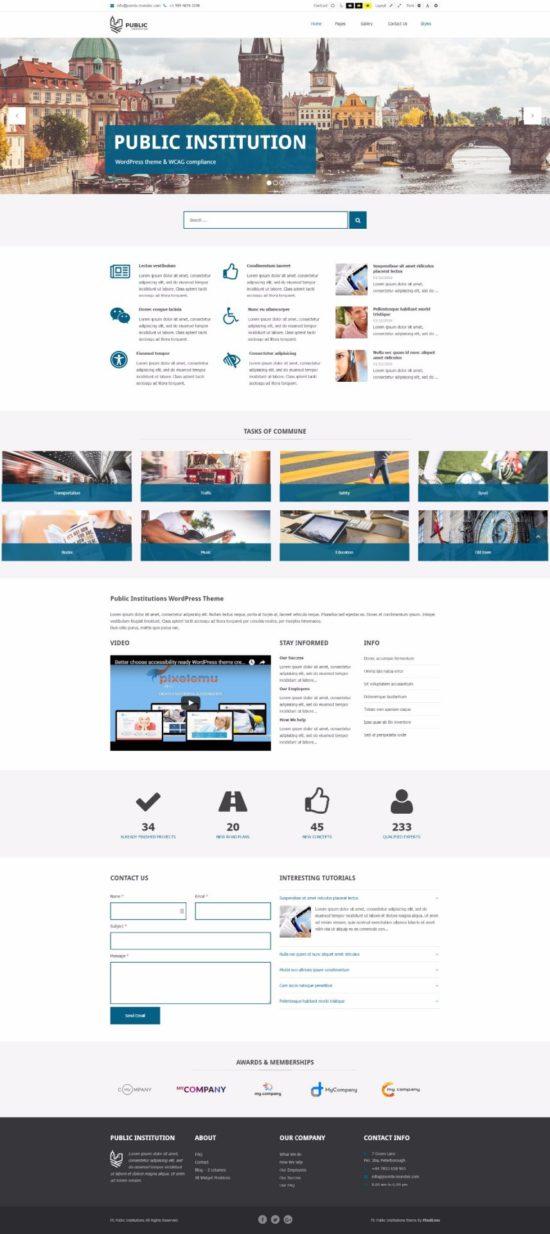 public institutions pixelemu wordpress theme 01 550x1234 - Public Institutions WordPress Theme