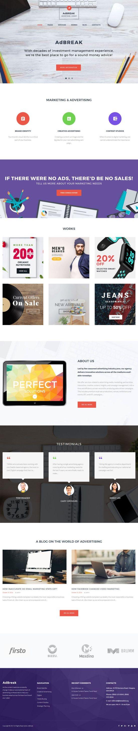 adbreak template monster wordpress theme 01 - AdBreak WordPress Theme