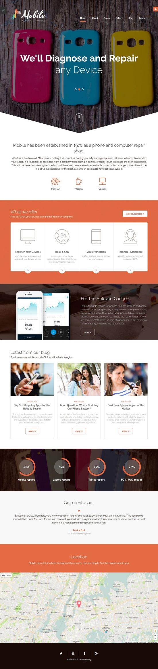 mobile repair services joomla template 01 - Mobile Repair Service Joomla Template