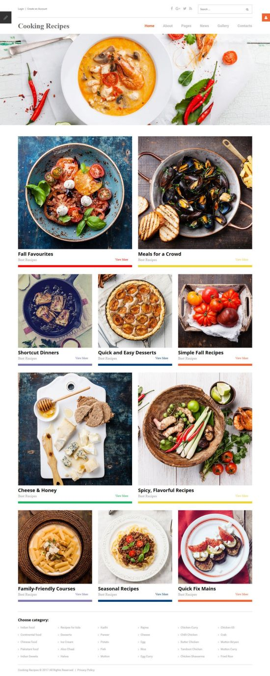 cooking receipes joomla template 01 - Cooking Recipes Joomla Template
