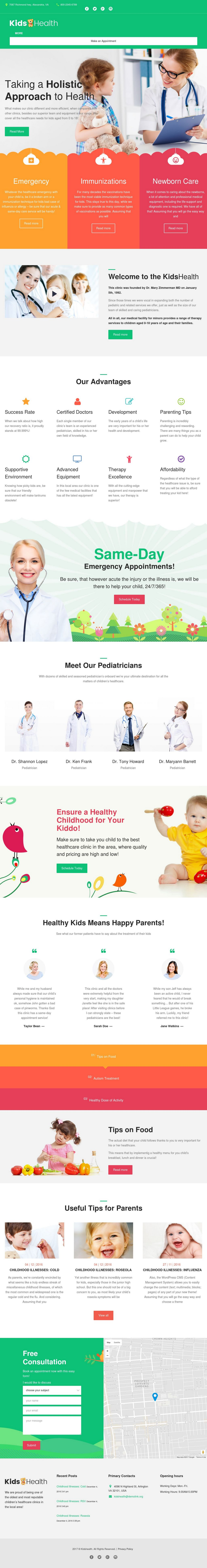 kidshealth wordpress theme templatemonster 01 - kidshealth-wordpress-theme-templatemonster-01
