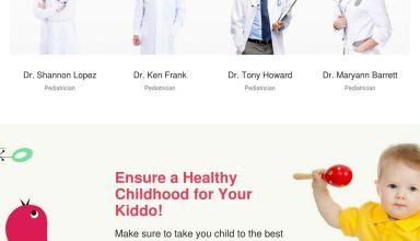 kidshealth wordpress theme templatemonster 01 - KidsHealth WordPress Theme