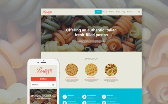 58382 big - Top 20 Food WordPress Themes with Flat Designs 2017