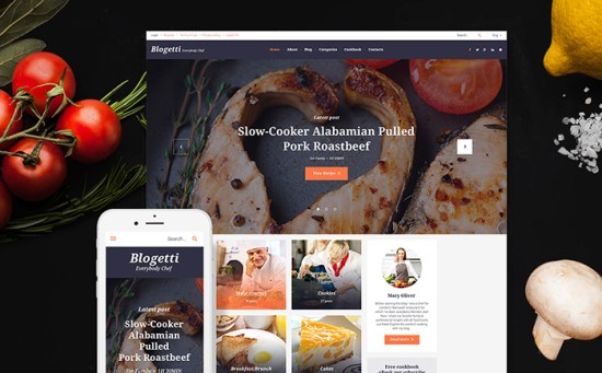 58395 big - Top 20 Food WordPress Themes with Flat Designs 2017
