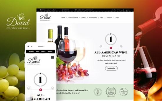 Duval: Wine Shop and Restaurant WordPress Template