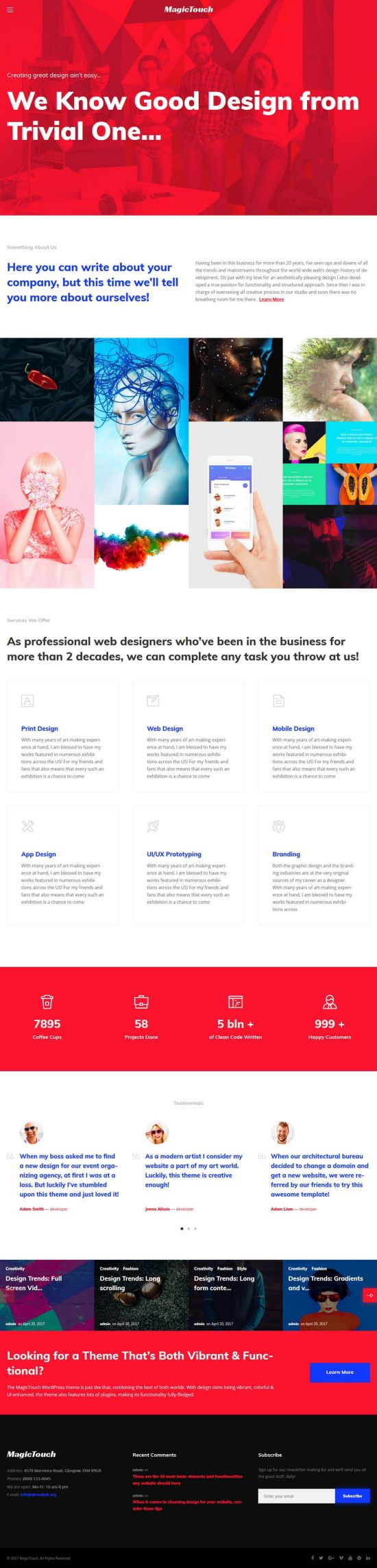 magictouch wordpress theme templatemonster 01 - MagicTouch WordPress Theme