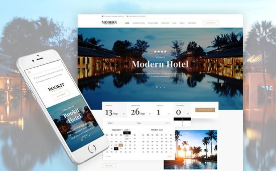 Bookit – Smart WordPress Theme for Your Hotel