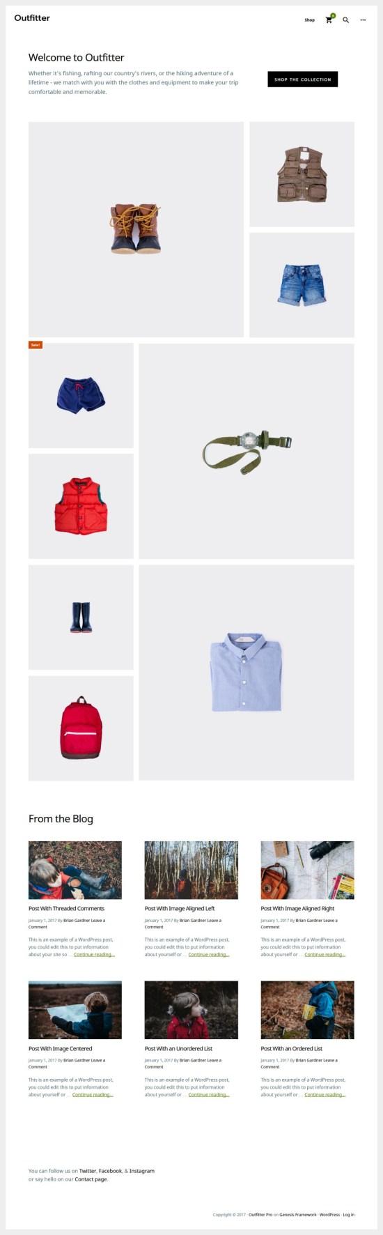 outfitter studiopress genesis storefront theme 01 - Outfitter Pro WordPress Theme