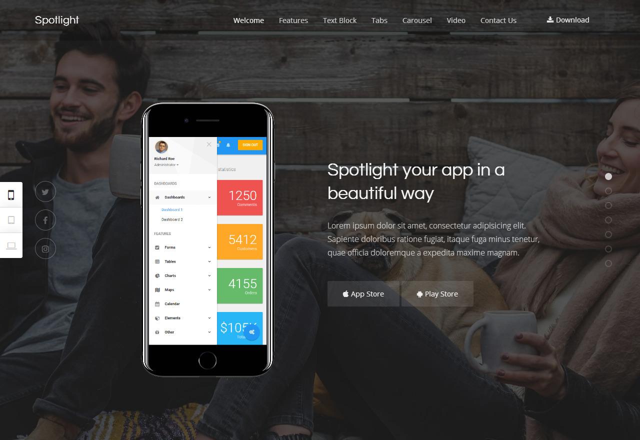 spotlight wordpress app themes 01 - spotlight-wordpress-app-themes-01