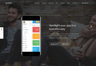 spotlight wordpress app themes 01 - Spotlight WordPress Theme