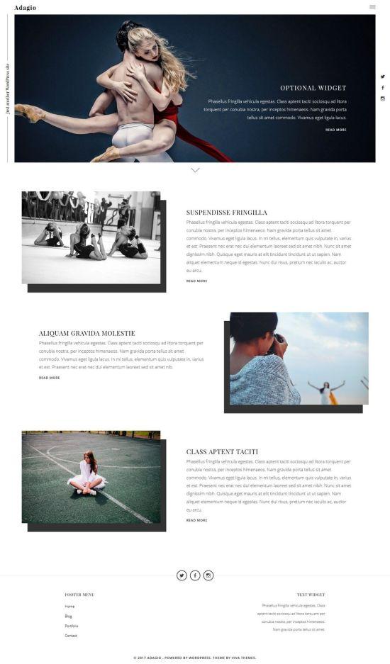 adagio wordpress theme viva themes - Adagio WordPress Theme