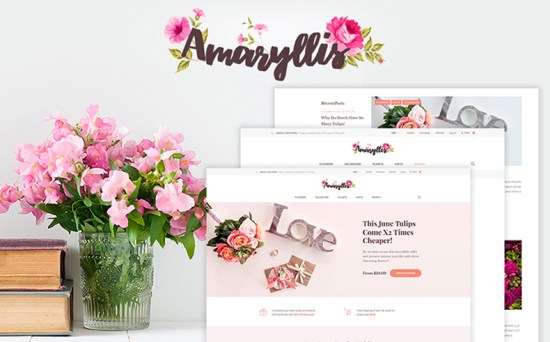 amaryllis wordpress theme 01 - Top 20 Fresh Feminine & Minimal WordPress Themes