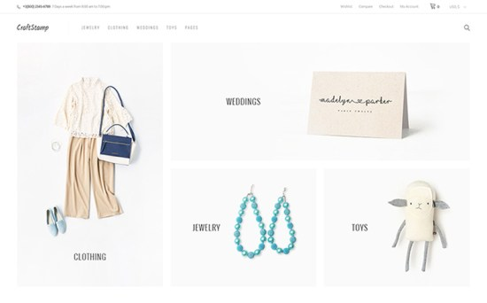 craftstamp wordpress theme 01 - Top 20 Fresh Feminine & Minimal WordPress Themes