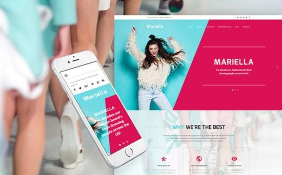mariella wordpress theme 01 - Top 20 Fresh Feminine & Minimal WordPress Themes