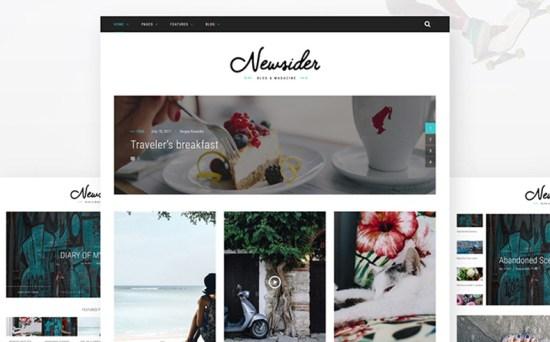 newsider wordpress theme 01 - Top 20 Fresh Feminine & Minimal WordPress Themes