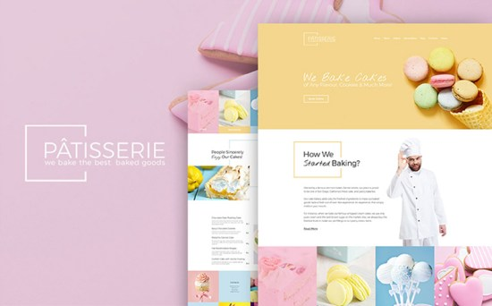 patisserie wordpress theme 01 - Top 20 Fresh Feminine & Minimal WordPress Themes