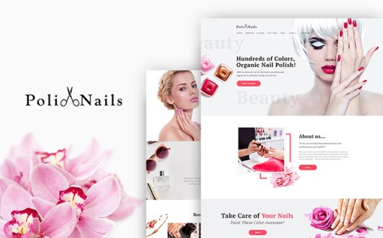 PoliNails - Nail Salon WordPress Theme