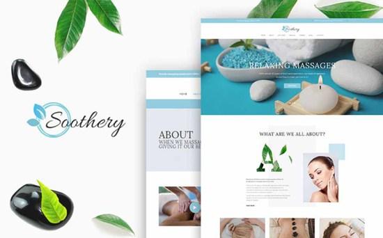 soothery wordpress theme 01 - Top 20 Fresh Feminine & Minimal WordPress Themes