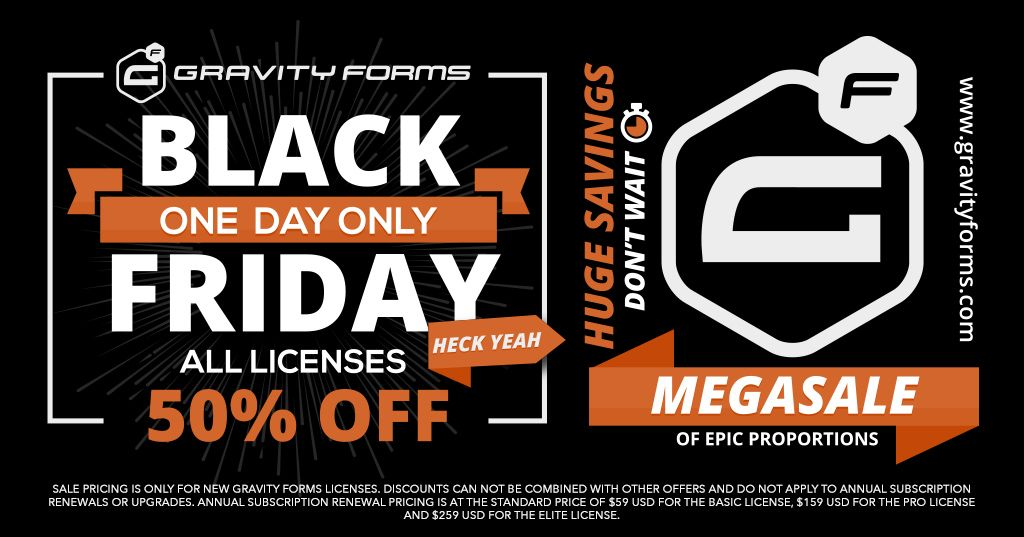 gravity forms 50 black friday 2017 01 - Gravity Forms 50% Off Black Friday 2017
