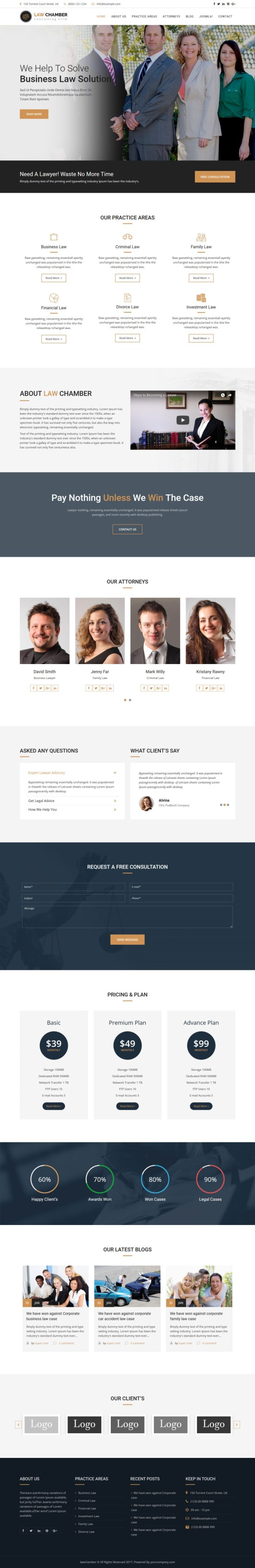 Law Chamber Joomla Template