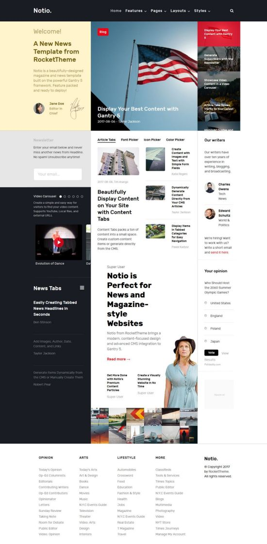 notio joomla template 01 - Notio Joomla Template