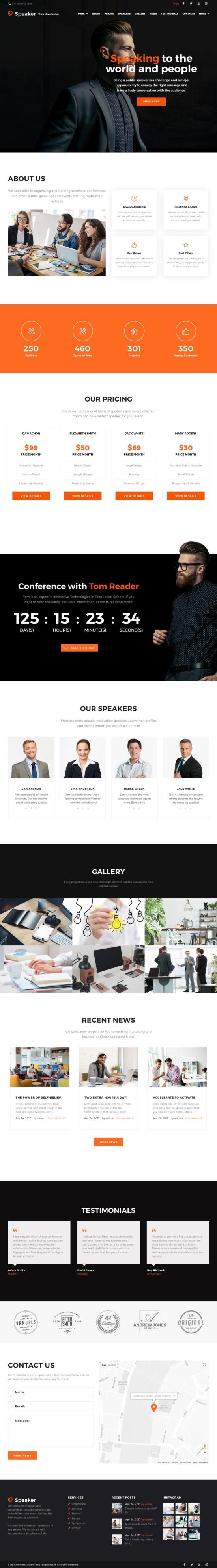 Speaker WordPress Theme