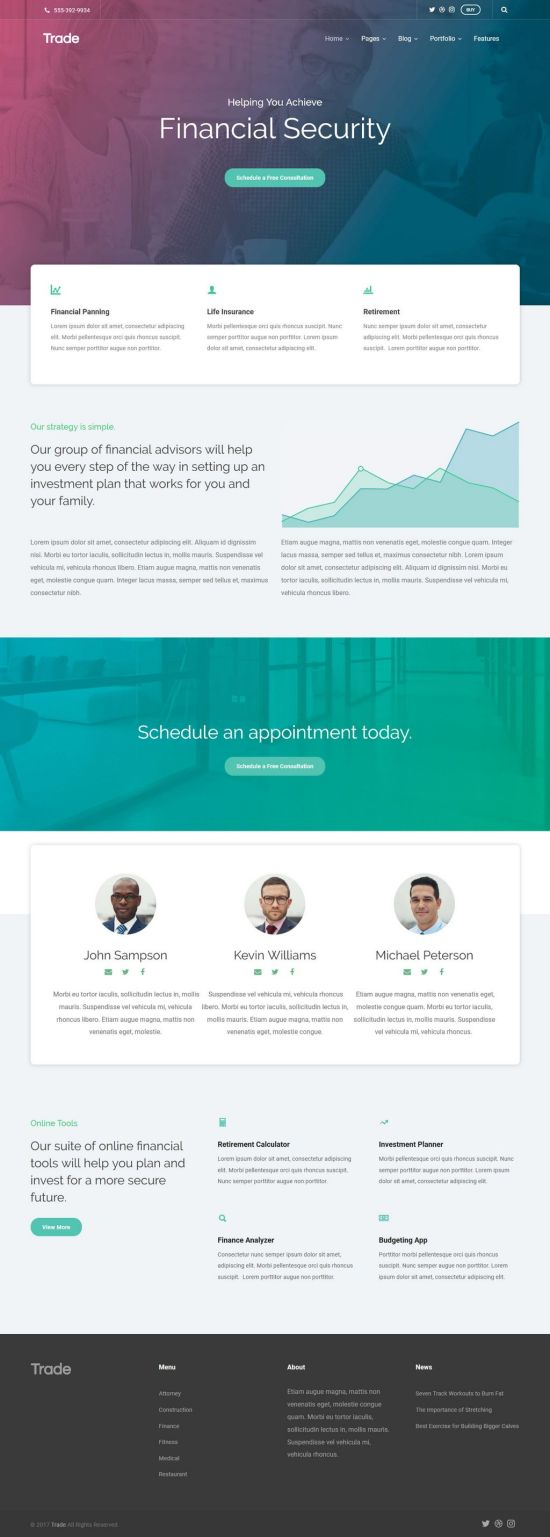 trade wordpress theme 01 - Theme Trust Trade WordPress Theme