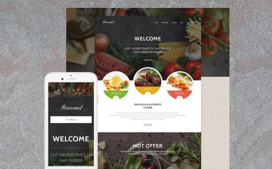 Gourmet Cuisine: Cafe and Restaurant WordPress Site Design
