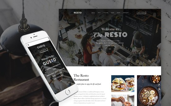 Gusto: Cafe and Restaurant Responsive WordPress Template