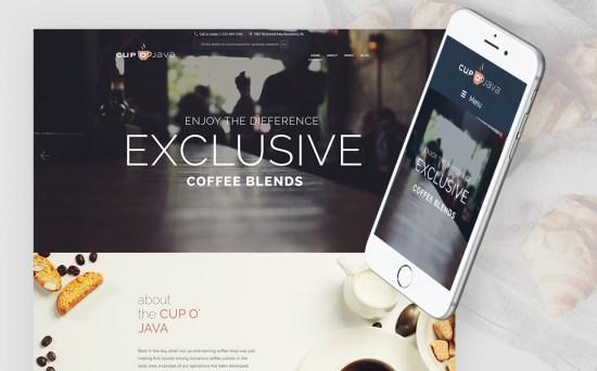 Cup-o'-Joy: Coffee Shop WordPress Theme