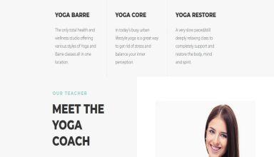 namaskar yoga wordpress theme 01 - Namaskar Yoga WordPress Theme