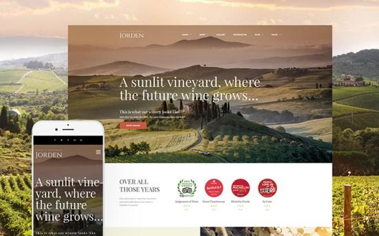 Jorden: Wine & Winery WordPress Theme