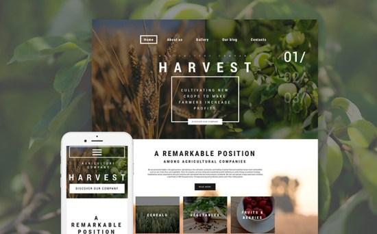 Harvest: WordPress Theme