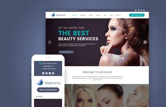 Stephania - Beauty Salon & Skin WordPress Theme