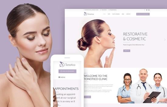 Tonotico - Plastic & Cosmetic Clinic Responsive WordPress Theme