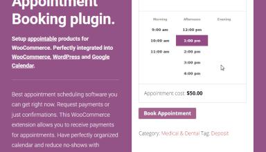 woocommerce appointments wordpress plugin 01 - Woocommerce Appointments WordPress Plugin