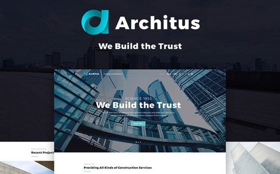 Architus Construction Responsive WordPress Theme