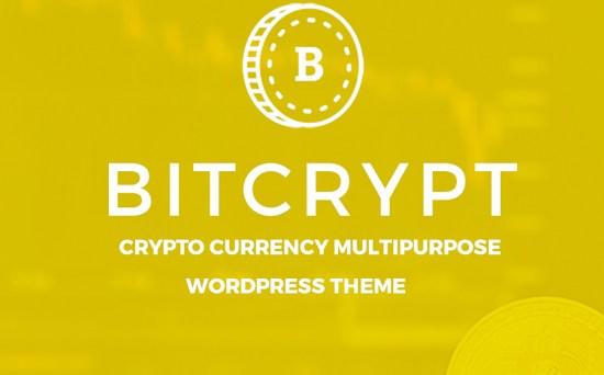 Bitcrypt Bitcoin & Cryptocurrency Multipurpose WordPress Theme