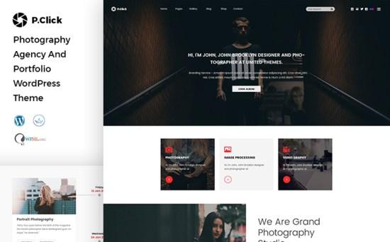 PClick - Design & Photography WordPress Theme