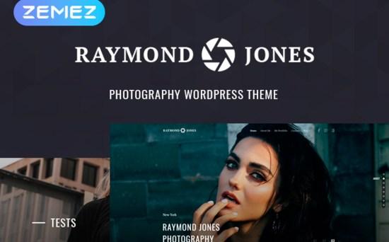 Raymond Jones - Photographer & Design Portfolio Landing Page WordPress Theme