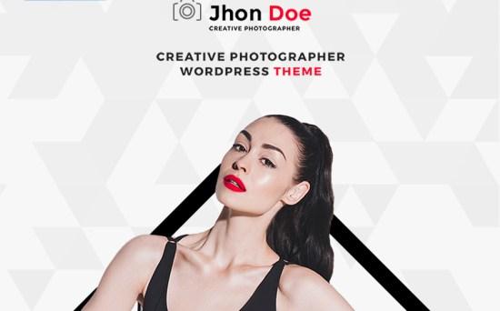 Jhon Doe - Designer & Photographer Portfolio WordPress Theme