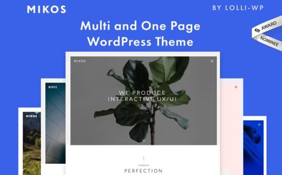 Mikos - Multi and One Page Creative Design WordPress Theme